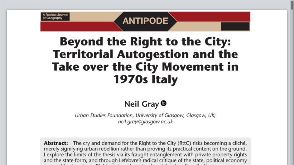 The Spatialities Of Italian Autonomy