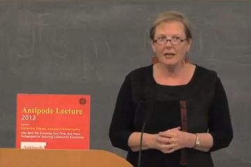 Antipode Lecture Series 2012